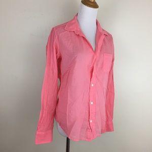 NEW Frank & Eileen BARRY Cotton Voile Button Shirt